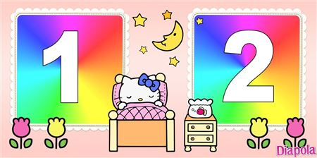 Montage photo Hello Kitty dort