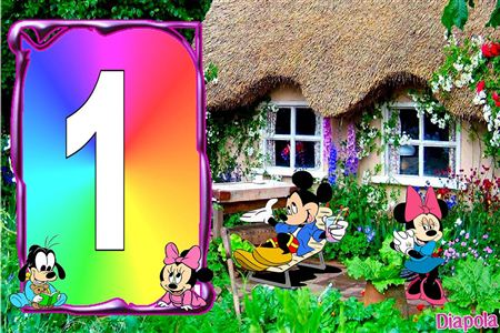 Montage photo mickey et minnie et b b avec diapola - Photo minnie et mickey bebe ...