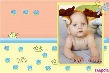 Fabuleux Montage photo Cadre pour bébé avec Diapola EB49