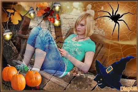 montage photo halloween avec diapola. Black Bedroom Furniture Sets. Home Design Ideas