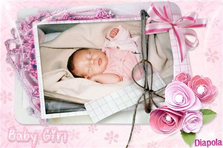montage photo naissance baby girl avec diapola. Black Bedroom Furniture Sets. Home Design Ideas