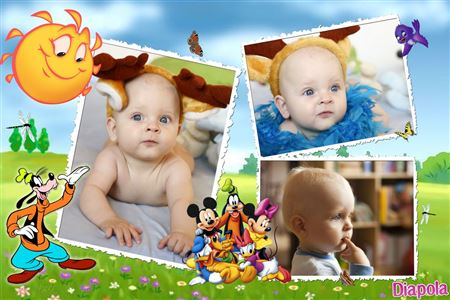 Montage photo Disney trio pour enfants