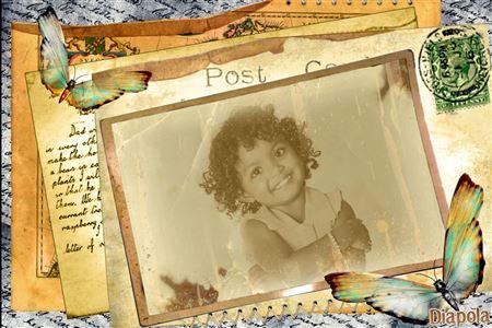 Montage Photo Carte Postale Vintage Avec Diapola